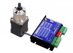 Nema17 Planetary Geared Stepper Motor 60kgcm with RMCS-1102 Drive