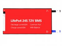Lifepo4 24S 60A Balance Common Port Bms 3.2V LifePo4 cell - 72V battery