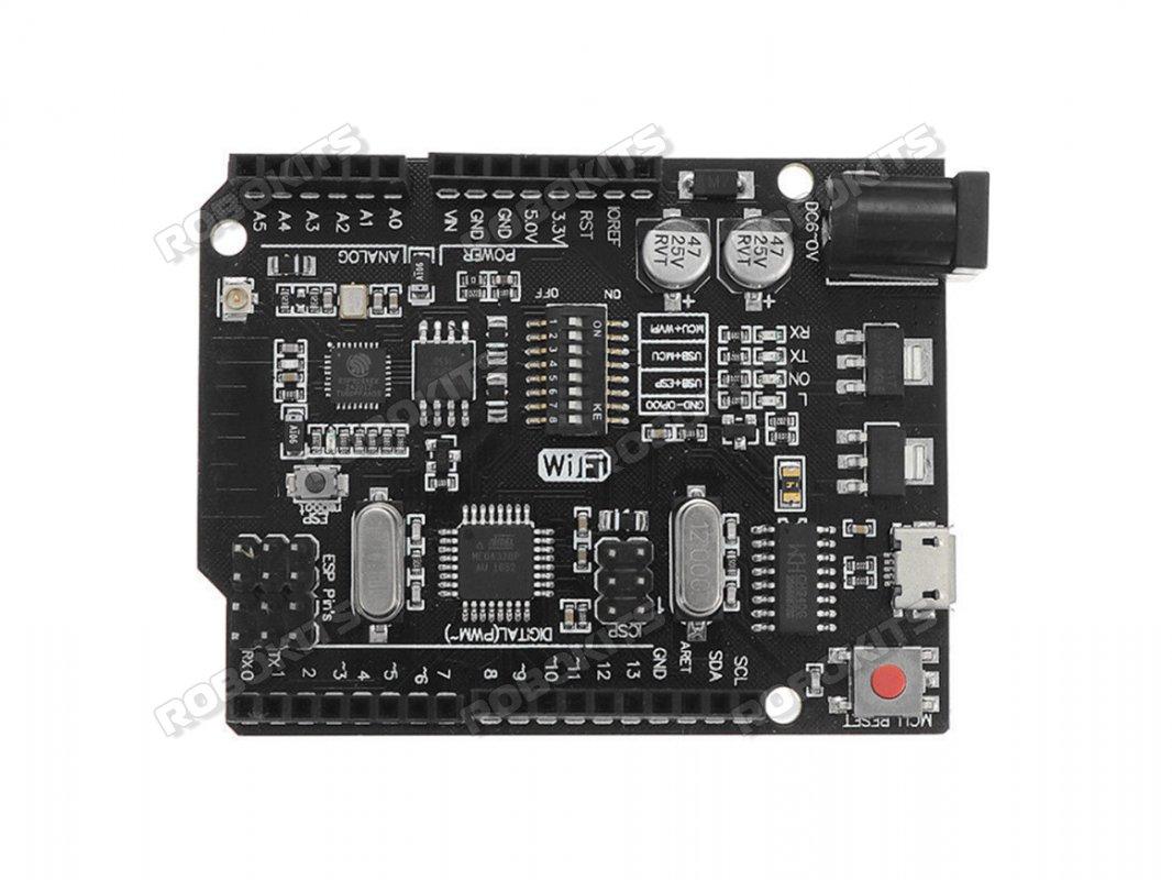 Uno+WiFi R3 AtMega328p+NodeMCU ESP8266 32mb Memory USB-TTL CH340G  Compatible for Arduino UNO