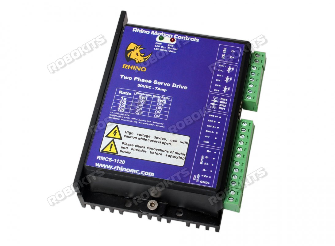 Rhino Hybrid Step Servo Drive 50V 7Amp RS485 Modbus Compatible