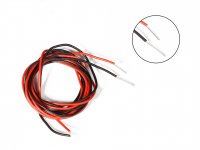 Silicone Wire High Temperature Corrosion Resistant 3KV UL 3239 Grade 22AWG (2m Black+ 2m Red)