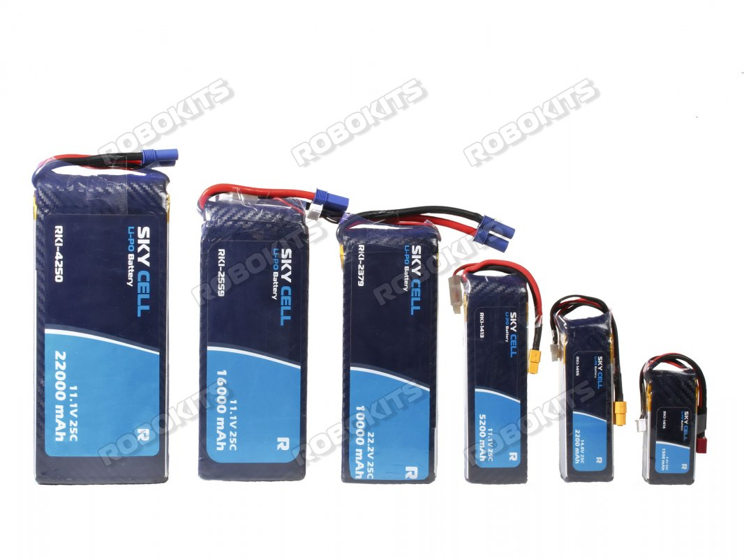 Skycell 7.4V 2S 5200mah 25C (Lipo) Lithium Polymer Rechargeable Battery - Click Image to Close