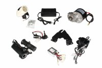 E-Bike 24V 350W 300RPM DC Geared Motor with Compatible E-Bike Controller and Complete E-Bike accessories Kit
