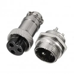 Aviation Plug GX12-3 (3 pin Male-Female)