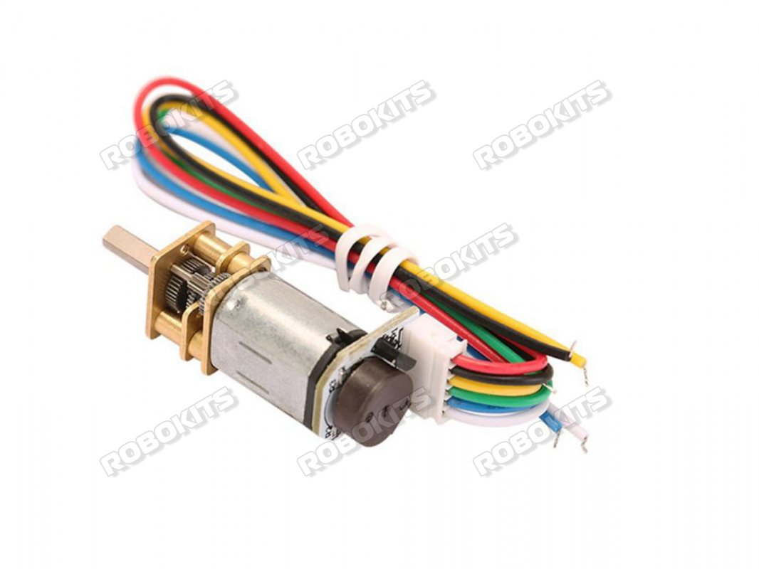 GA12-N20-12v 1000 RPM ALL Metal Gear Micro DC Encoder Motor with Precious Metal Brush - Click Image to Close