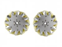 203MM MECANUM WHEEL SET (1X LEFT, 1X RIGHT)