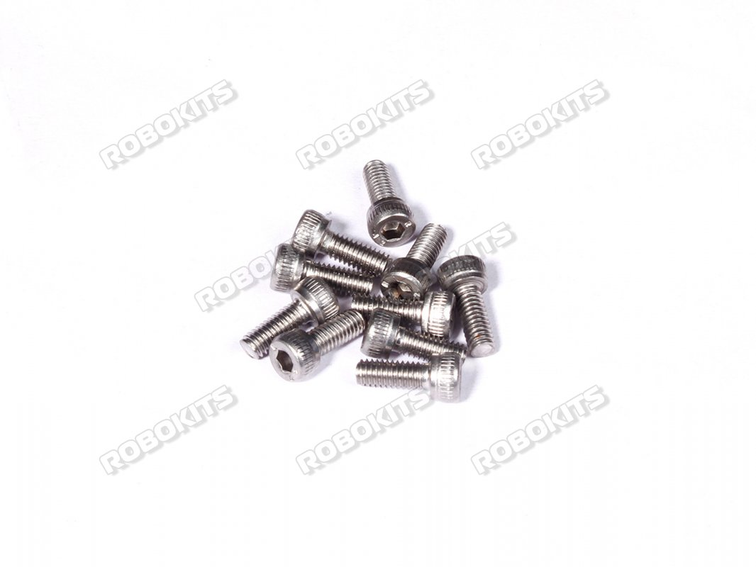 M5 x 10 mm Socket Head Cap Stainless Steel 304 Bolt & Nuts pack of 15pcs - Click Image to Close