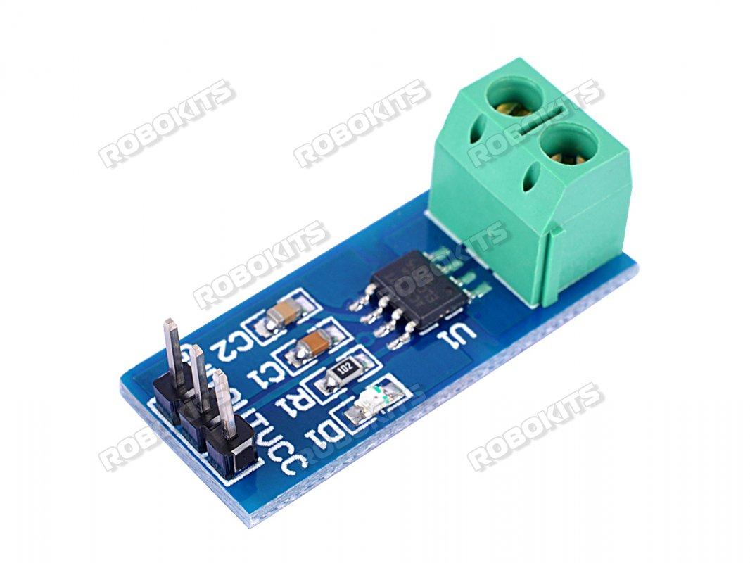Current Sensor Module 30a Acs712 Rki 1836 200 Robokits India Water Sensor2pcb Is 12v