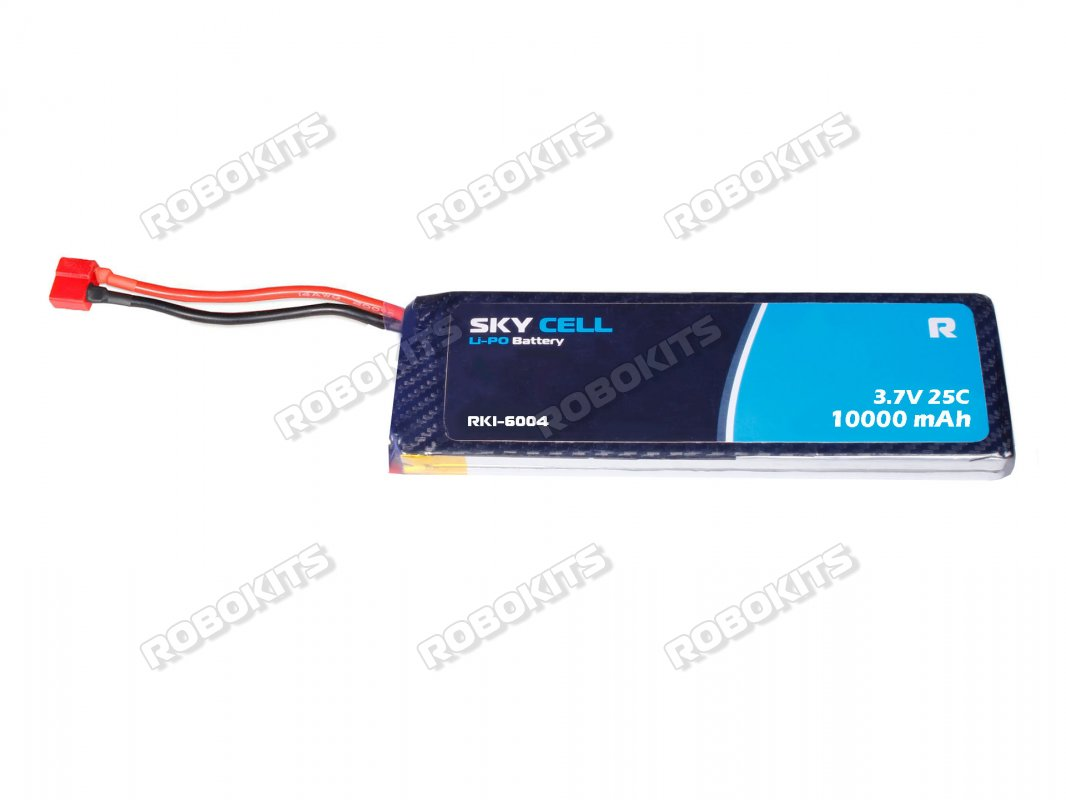 Skycell 3.7V 1S 10000mah 25C (Lipo) Lithium Polymer Rechargeable Battery - Click Image to Close