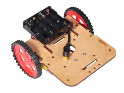 Robot Chassis Kit with motors wheels and battery holder
