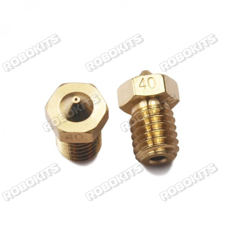 E3D V6 Copper Nozzle Aperture of 0.4mm for 1.75mm Filament - Click Image to Close