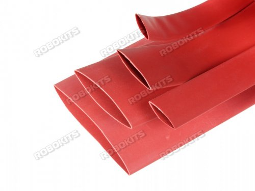 Heat Shrink Sleeve 10 mm Red 1 meter Premium Quality Industrial Grade WOER (HST)