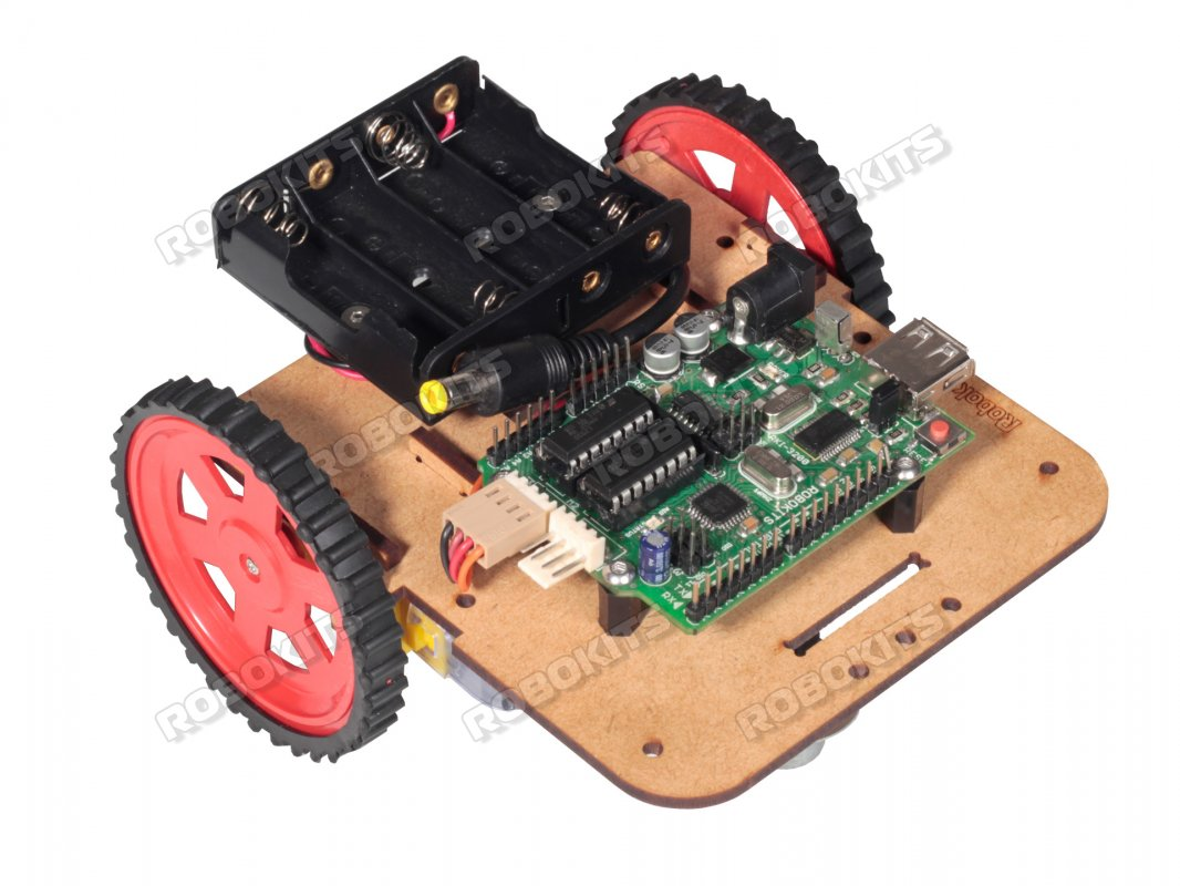 Robot Chassis Kit with motors wheels and battery holder - Click Image to Close