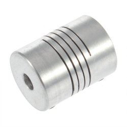 Aluminium Flexible Shaft Coupling 5mm to 5mm