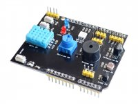 9IN1 Multifunction Arduino Shield DHT11/LM35/Buzzer/Humidity/Ir Receiver/Potentiometer/LED/Switch/LDR