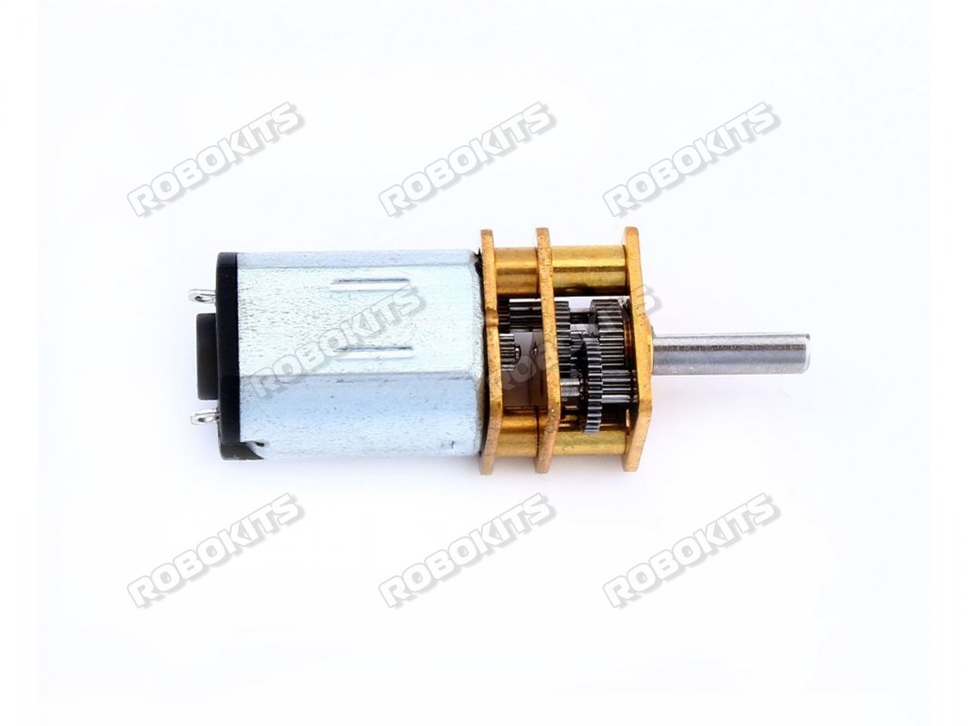 GA12-N20-3v 150 RPM ALL Metal Gear Micro DC Motor with Precious Metal Brush - Click Image to Close