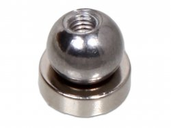 Magnetic Ball joint with Threaded Ball and Flat Round Magnet