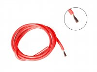 Silicone Wire High Temperature Corrosion Resistant 3KV UL 3239 Grade 10AWG (1 meter Red)