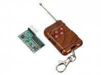 Four Channel Wireless RF Remote Control Transmitter + Receiver