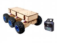 All Terrain Robot , 6 wheel drive with independent wheel suspension - Ready to use with 1Km Range of radio controller