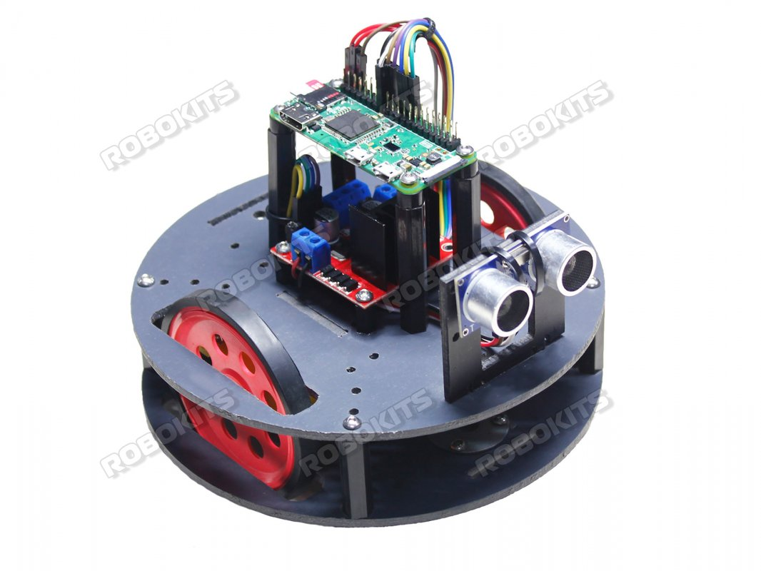 RoundBot Raspberry Pi Zero Wireless WH - Compact Indoor Robot Fully  Assembled