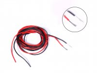 Silicone Wire High Temprature Super Flexible Grade 22AWG (2m Black+ 2m Red)
