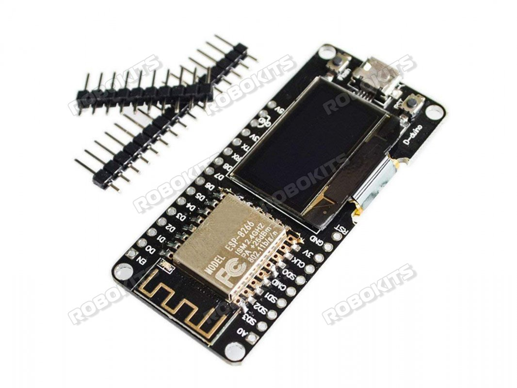 Wemos Nodemcu ESP8266 Wifi + 0.96 Inch OLED Board Wireless/IoT Application