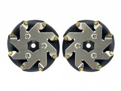 48mm Mecanum wheel set (1x Left, 1x Right) Basic - Bush type rollers