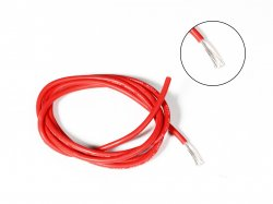 Silicone Wire High Temperature Corrosion Resistant 3KV UL 3239 Grade 12AWG (1 meter Red)