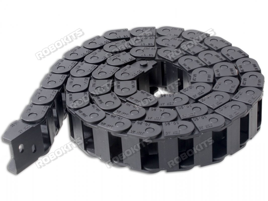 Cable Drag Chain Wire Carrier with end connectors 10x20mm 1Meter - Click Image to Close