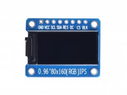 0.96 Inch 80x160 ST7735 OLED Display SPI/I2C Interface