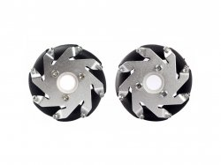 60mm Mecanum Wheel Set (1x Left, 1x Right) Basic - Bush type rollers