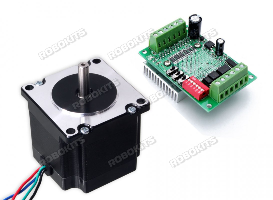 NEMA23 Stepper Motor 10Kgcm Torque with TB6560 Stepper Drive - Click Image to Close