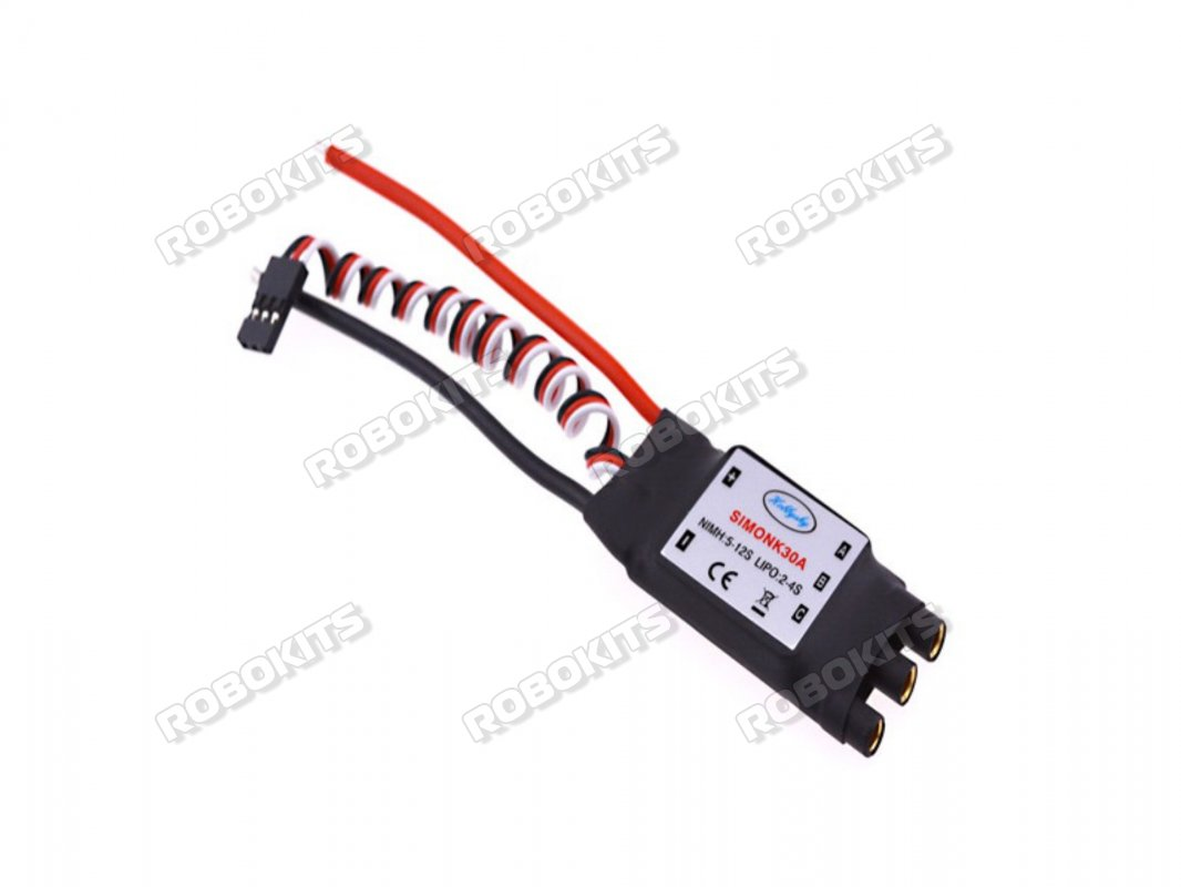 Simonk 30A ESC 2-4S 3.5mm Head - Premium Quality - Click Image to Close