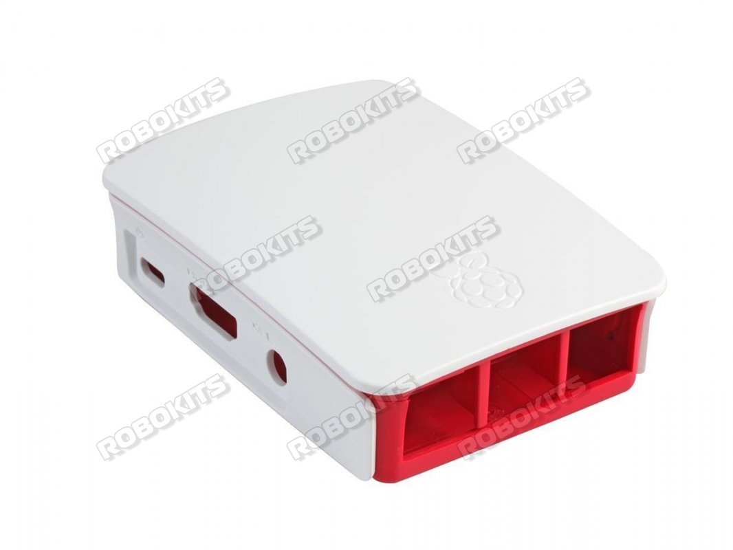 White And Red Case Enclosure for Raspberry PI 3B+