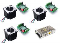 CNC Package with Stepper Motor Nema23 10kgcm Motor & TB6560