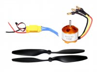 RC Motor 2212 2200KV with SimonK 30A ESC and Propeller Pair