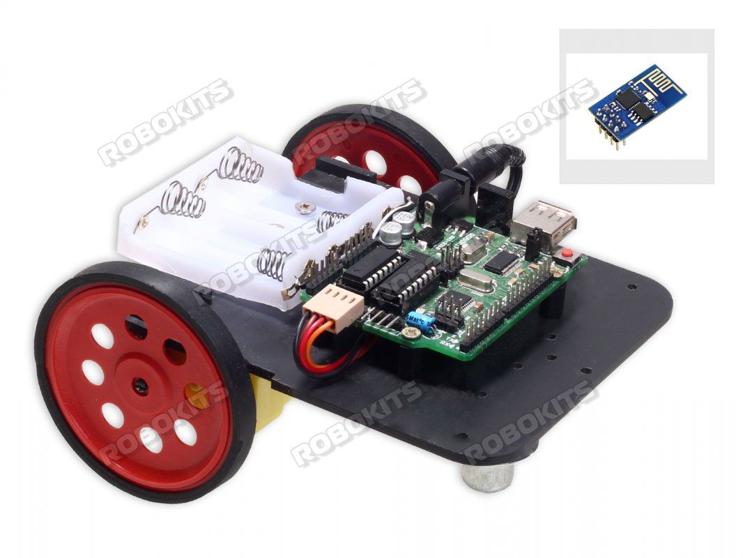 Arduino Uno R3 Compatible ESP8266 Wifi Controlled Robot DIY Kit - Click Image to Close