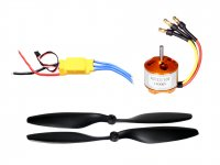 RC Motor 2212 1400KV with SimonK 30A ESC and Propeller Pair