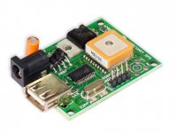 USB/UART GPS Module 66 Channel with Patch Antenna on top