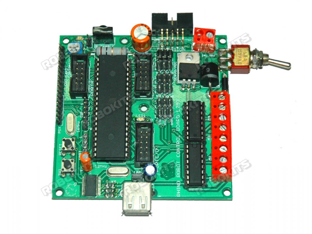 Rhino Robot Control Board L293 Avr Based With Quick C Compiler Universalremotecontrolledrobot Controlcircuit Circuit Diagram