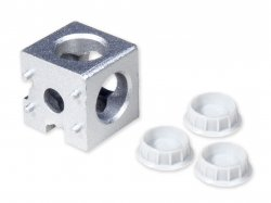 Three Way Angle Cubic Connector Junction Corner Bracket for 3030 Series Aluminium Profile