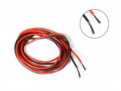 Silicone Wire High Temperature Corrosion Resistant 3KV UL 3239 Grade 18AWG (1m Black+1m Red)