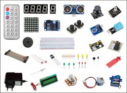 Starter Kit Embedded Prototyping Compatible with Raspberry Pi and Arduino