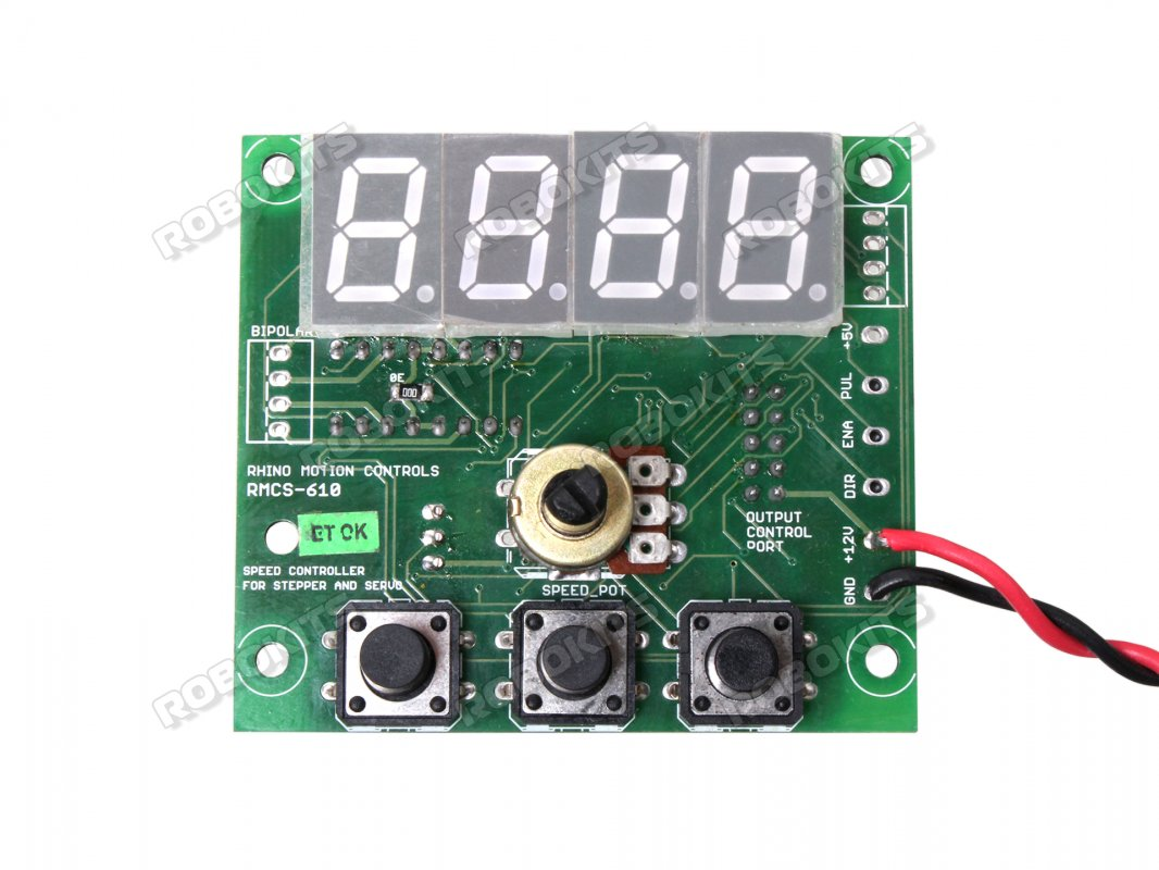 Digital Speed Controller Rmcs 6102 800 Robokits India Easy Wireless Servo Motor Control With Potentiometer