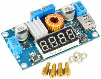 XL4015 5A Step Down Module With Display And USB Output Input 5-36V Output 1.25-32V