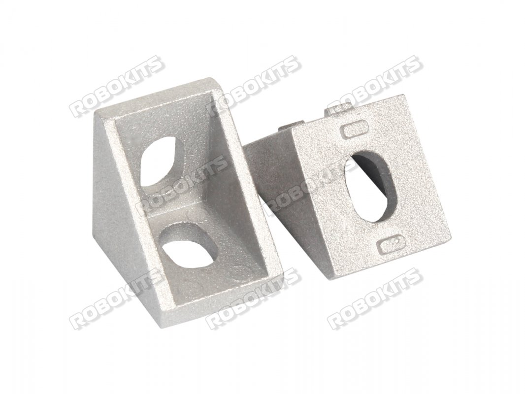 L Shape Aluminium Reinforcement Clamp With Straight Angle for 4040 Profile  4pc Set