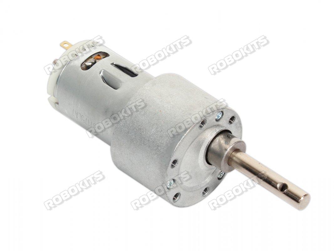 DC 12V 300 RPM 6mm Shaft High Torque Gear-Box Electric Motor