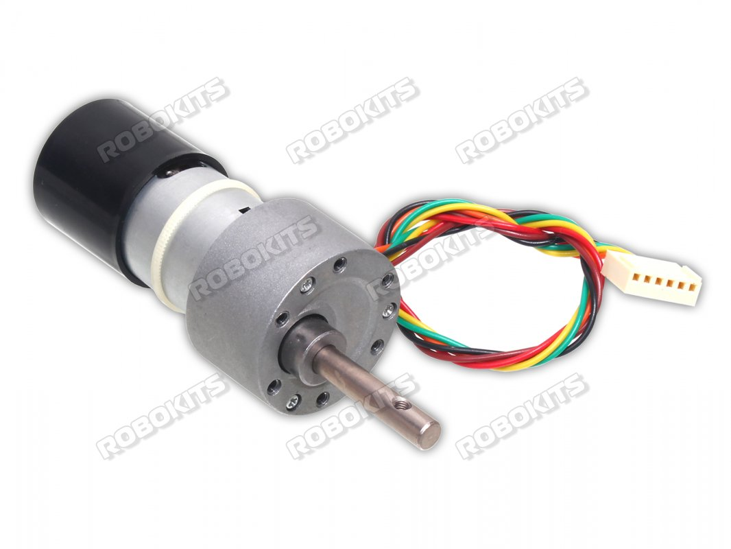 High Torque Quad Encoder Geared DC Motor 12V 900RPM - Click Image to Close