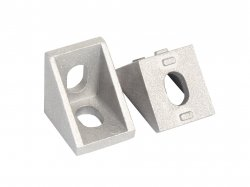 L Shape Aluminium Reinforcement Clamp With Straight Angle for 2020 Profile MOQ 4pcs